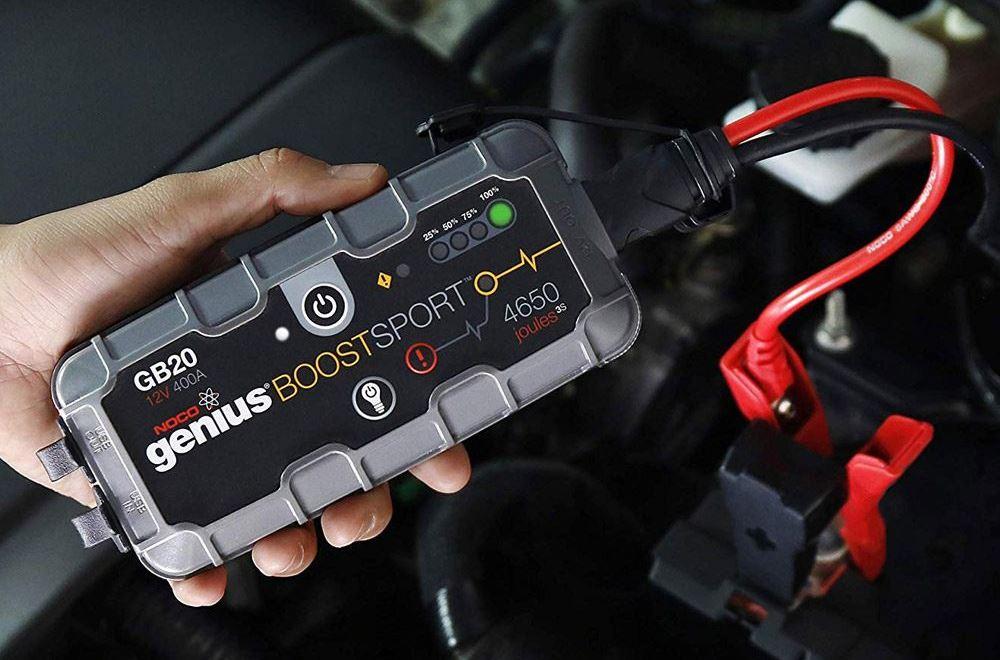 Mouchao 12V 20000mAh Multifunctional Car Jump Starter Power Booster Battery Charger White