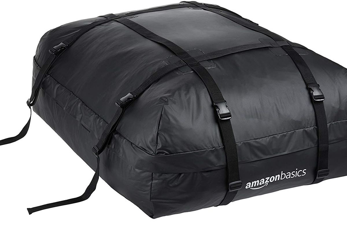 Folding 500D Cargo Carrier Roof Top Box Storage Bag 15 Cubic Feet Waterproof Roofing Rack Bag with 8 Reinforced Straps for All Cars with//Without Rack Car Roof Bag