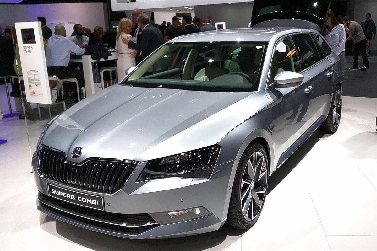 Frankfurt Motor Show 2015 Skoda Introduces 96g Km Superb