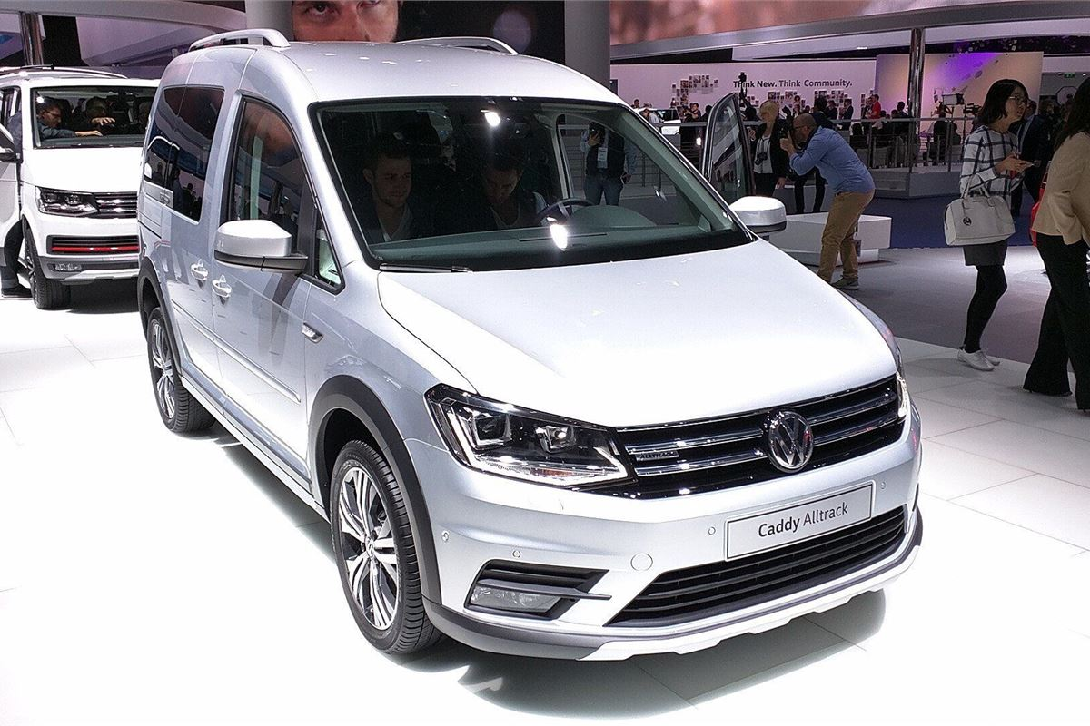 frankfurt motor show 2015 volkswagen develops caddy alltrack motoring news honest john. Black Bedroom Furniture Sets. Home Design Ideas