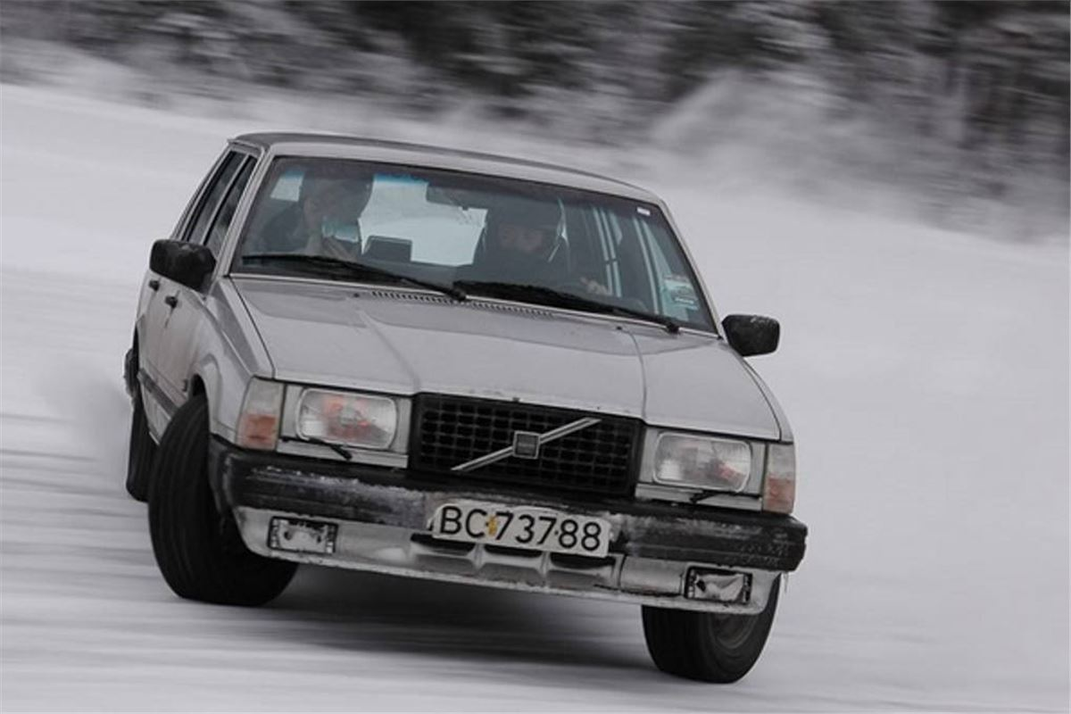 Classic Advert Snow Racing Volvos Honest John