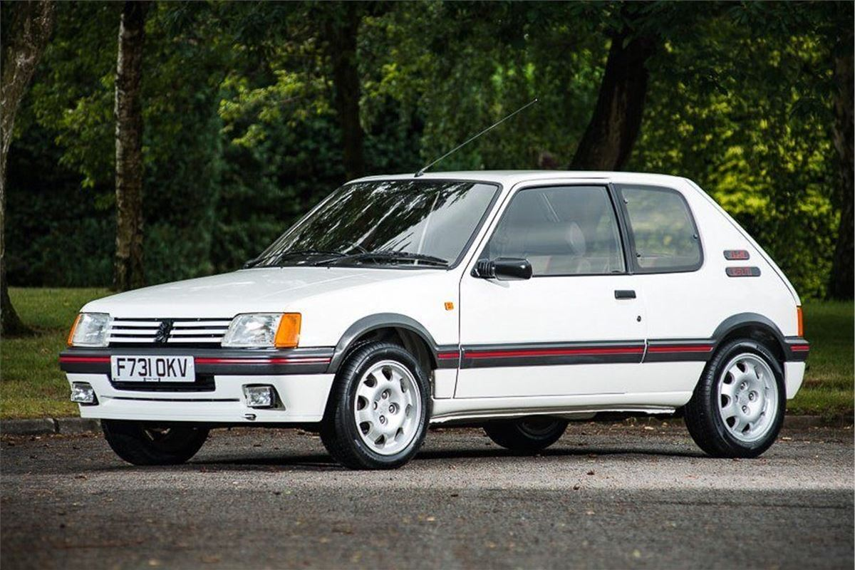 record price set for peugeot 205 gti honest john. Black Bedroom Furniture Sets. Home Design Ideas
