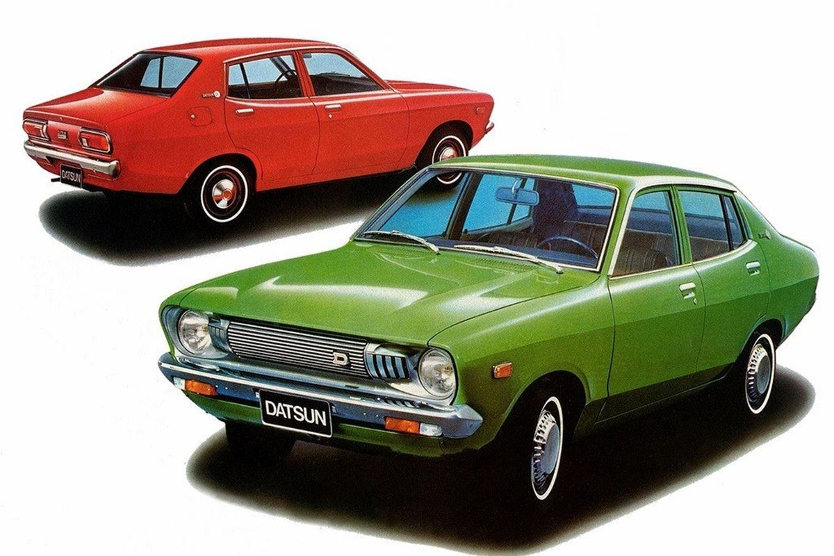 Two Car Garages Nissan Sunny B210 Classic Car Review Honest John