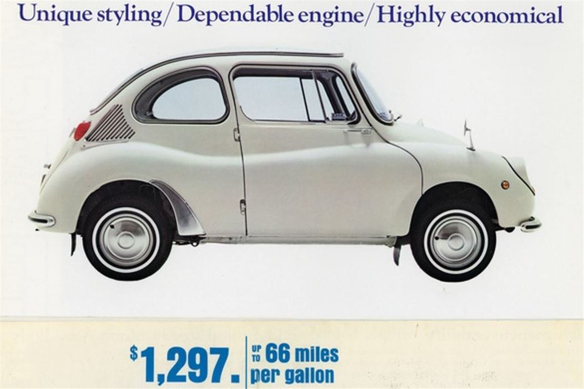 Classic advert subaru 360 honest john vanachro Image collections