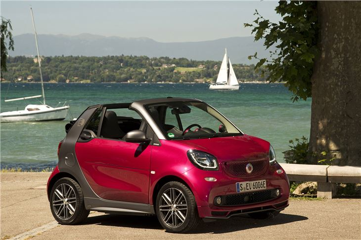 smart fortwo electric drive cabrio 2017 road test road. Black Bedroom Furniture Sets. Home Design Ideas