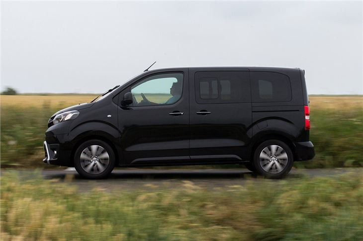 toyota proace verso van review honest john. Black Bedroom Furniture Sets. Home Design Ideas