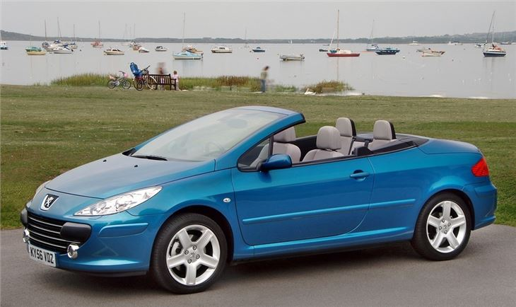 peugeot 307 cc 2003 car review honest john. Black Bedroom Furniture Sets. Home Design Ideas