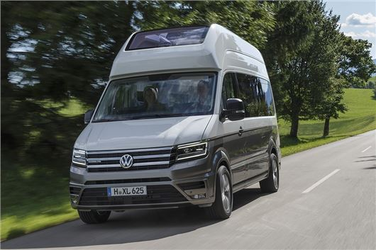 volkswagen california goes xxl with crafter camper van honest john. Black Bedroom Furniture Sets. Home Design Ideas
