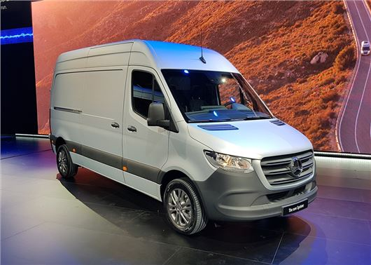new mercedes benz sprinter breaks cover honest john