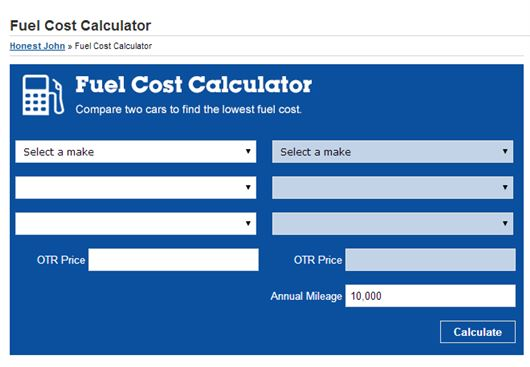 Fuel mileage cost calculator