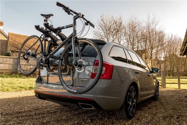 our new thule bike rack is pressed into service our cars. Black Bedroom Furniture Sets. Home Design Ideas
