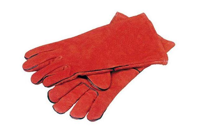 Good Cheap Welding Gloves Red Welders Gauntlet Lined High Temperature Resistant