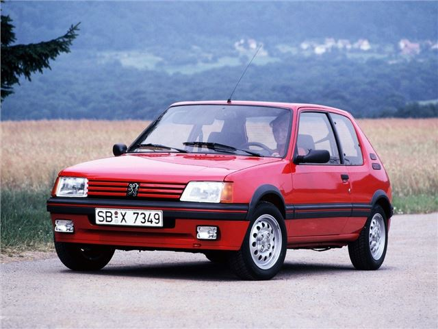 peugeot 205gti classic car review honest john. Black Bedroom Furniture Sets. Home Design Ideas