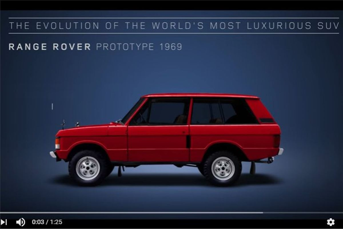 Land rover celebrates 48 years of the range rover for Land rover tarbes garage moderne