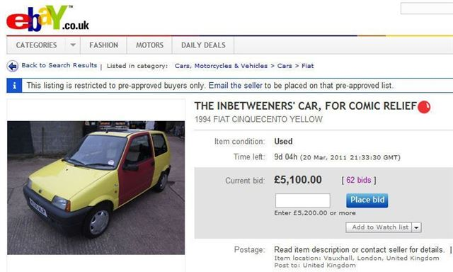 The Inbetweeners Car On Ebay Could This Be The Uk S Most